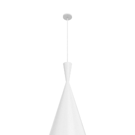 Beat Tall Pendant, White