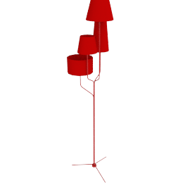 Tautou Floor Lamp, Primary Red