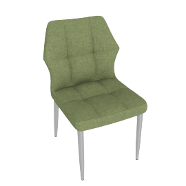 Hexa Dining Chair, Green