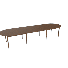 Gala Extension Table - Four Leaves, Walnut