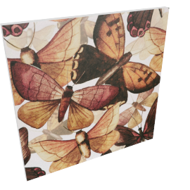 Butterflies Branch Canvas Print Wall Art - 80x3x80 cms