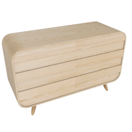 Esme wide chests of drawers, ash