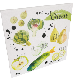 Green Meal Canvas Print Wall Art - 80x3x80 cms