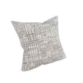 "Girard Pillows in Retrospective , Black - 17"" x 17"""