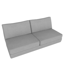 Reid Armless Sofa, Ducale Wool - Light Grey
