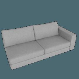 Reid One-Arm Sofa Right, Ducale Wool - Light Grey
