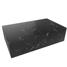 Plinth Coffee Table, Nero Marquina