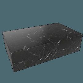 Plinth Coffee Table, Nero Marquina