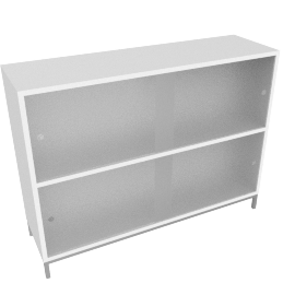 Sapporo Shelving, Two High - Caster Base - White