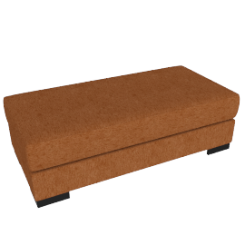 Signature Storage Ottoman, Orange