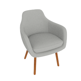 Saiba Chair, MCL Leather Grey