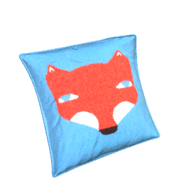 Donna Wilson Fox Cushion, Blue