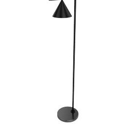 Captain Flint LED Floor Lamp, Black