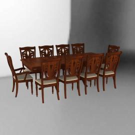 Cic Juego de comedor extendible 8 sillas + 2 sitiales Ascot