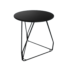 Polygon Wire Table - Small, Black
