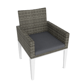 Evening Breeze Dining Chair , Grey/White