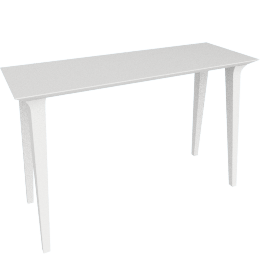 Lau Console Table, White