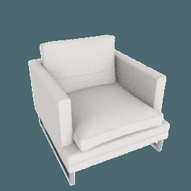 Corsica Armchair, Grey White