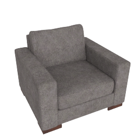 Signature Armchair, Grey Brown