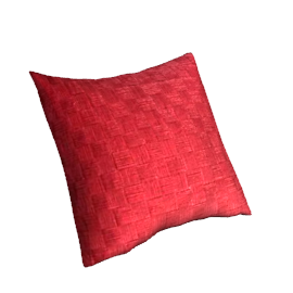 Metallic Weave Cushion, Red
