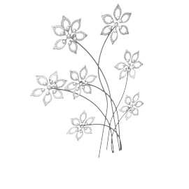 Mazma Floral Metal Wall Decor