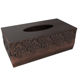 Chocolattice Tissue Box Cover