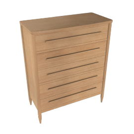 ercol for John Lewis Chiltern Bow 5-drawer Chest