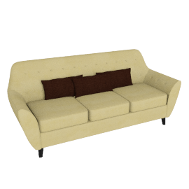 Straw 3-seater Sofa