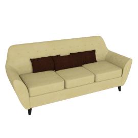 Straw 3-seater Sofa