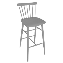 Salt Barstool, Grey