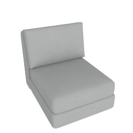Eterno 1 Seater Armless, Cloud