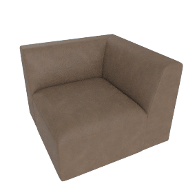 Juno modular - Corner End Seat, Columnbus Brown Leather