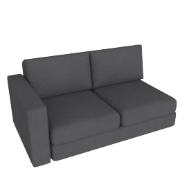 Eterno 2 Seater With Left Arm, Stone