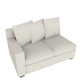 Muse One Arm Sofa - Rt (Fabric B) - Natural