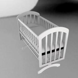 Anna Glider Crib, White