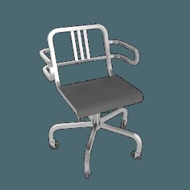 Nine-0 Swivel Armchair - 3 Bar Back