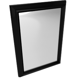 Cooper Framed Mirror, Black