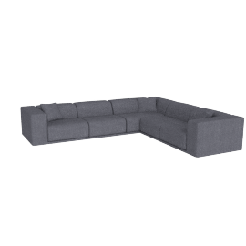 Kelston Corner Sectional Right-Facing, Pebble Weave Pumice