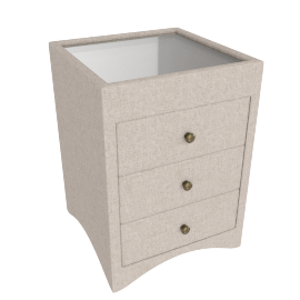 Stellar 3-Drawer Night Stand, Beige