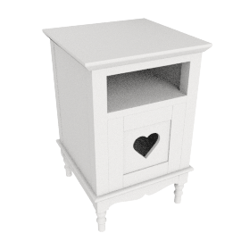 Victoria Bedside Table, Ivory