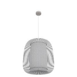 Polly large ceiling light, grey