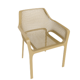 Diana Patio Chair, Gold