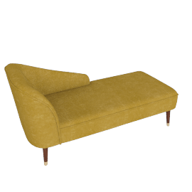 Margot RHF Chaise, Antique Gold Velvet
