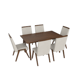 Holland 6-Seater Dining Table Set