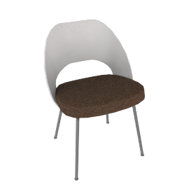 Saarinen Executive Side Chair with Plastic Back