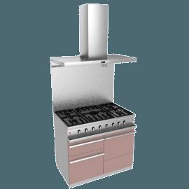 Westahl WG1052GECTAPK1 Dual Fuel Cooker, Hood and Splashback Package, Warm Grey