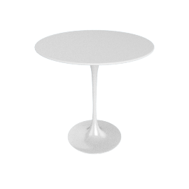 Saarinen Side Table - Laminate - White.White