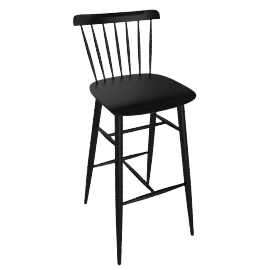 Salt Barstool, Black