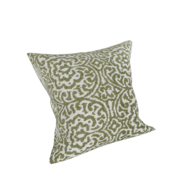 Florentine Filled Cushion 45x45 cms, Green