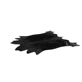 Cow Hide Rug, Black